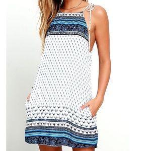 Lulu's Desert Plains Printed Swing Dress